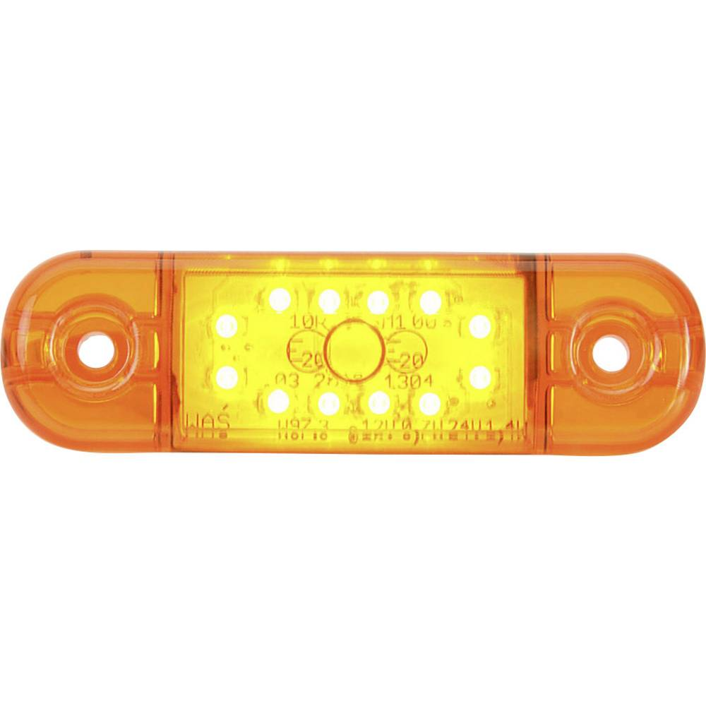 LED-markirna luč, oranžna, prozorna 12 V, 24 V SecoRüt