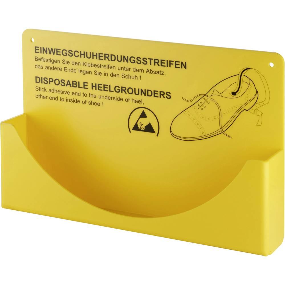Stenski nosilec ESD petnih trakov za enkratno uporabo 1 kos rumene barve Wolfgang Warmbier 2560.894.H