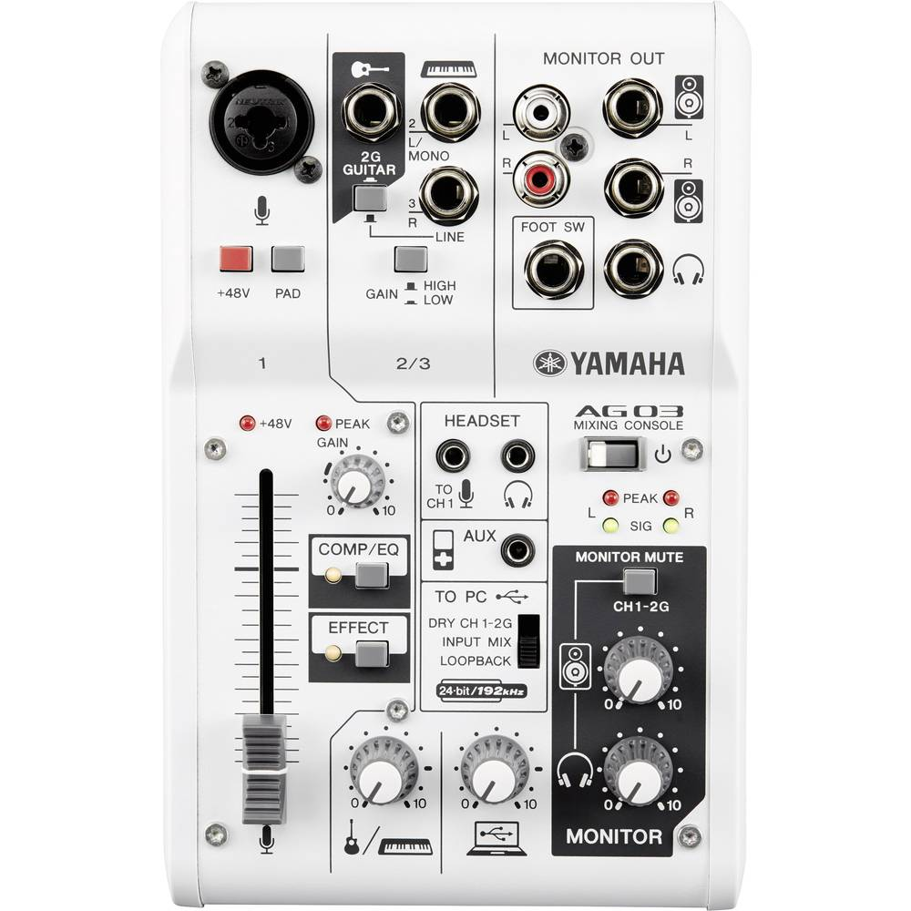 Yamaha AG03 Mešalna konzola Kanali (število):3 USB priključek