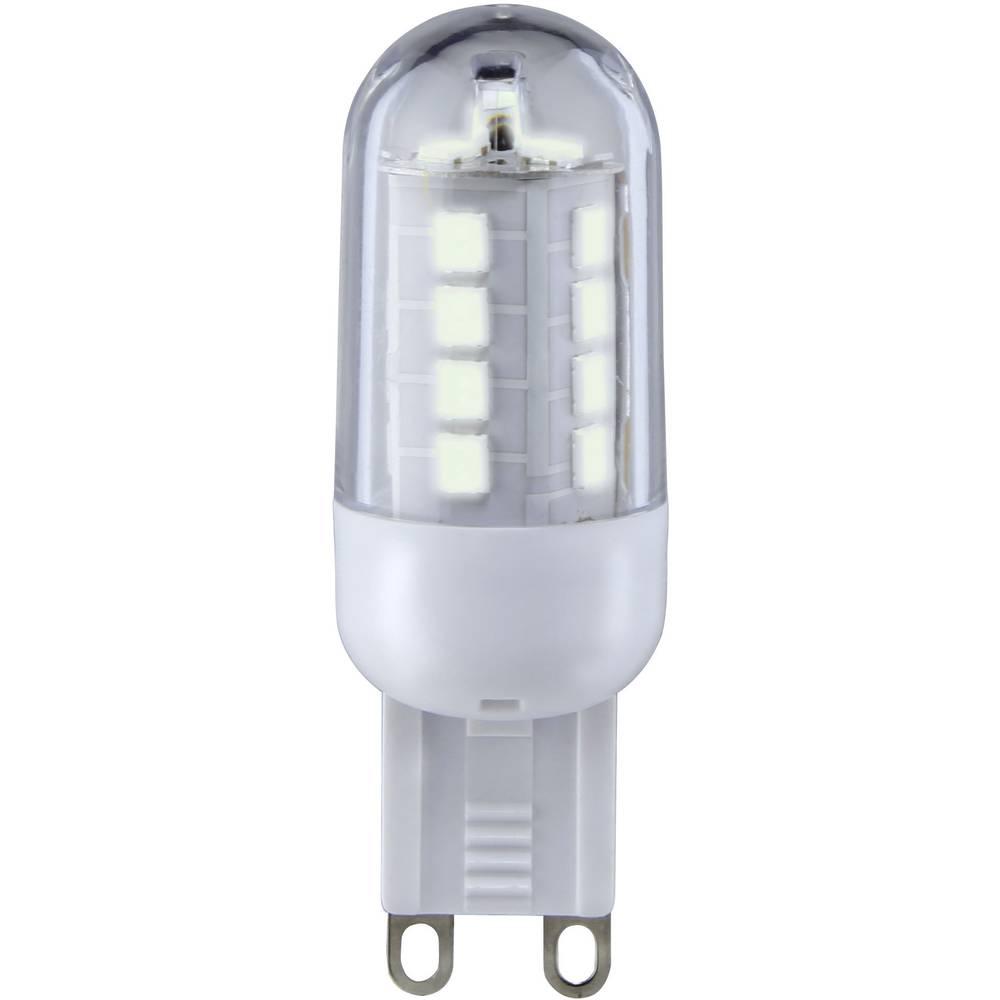 LED žarnica G9 oblika svinčnika 3 W = 25 W topla bela (premer x D) 19.50 mm x 59 mm EEK: A+ Sygonix 1 kos