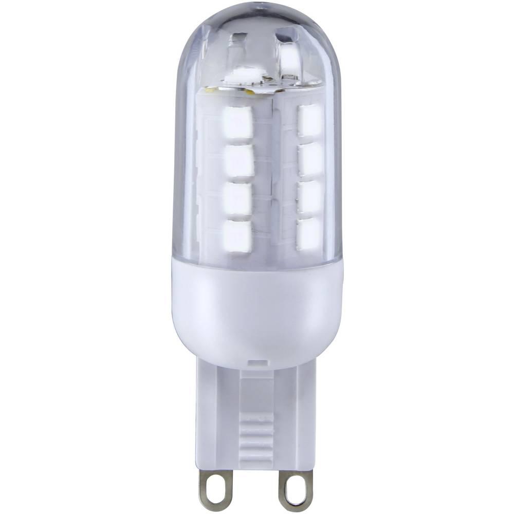 LED žarnica G9 oblika svinčnika 3 W = 25 W hladno bela (premer x D) 19.50 mm x 59 mm EEK: A+ Sygonix 1 kos