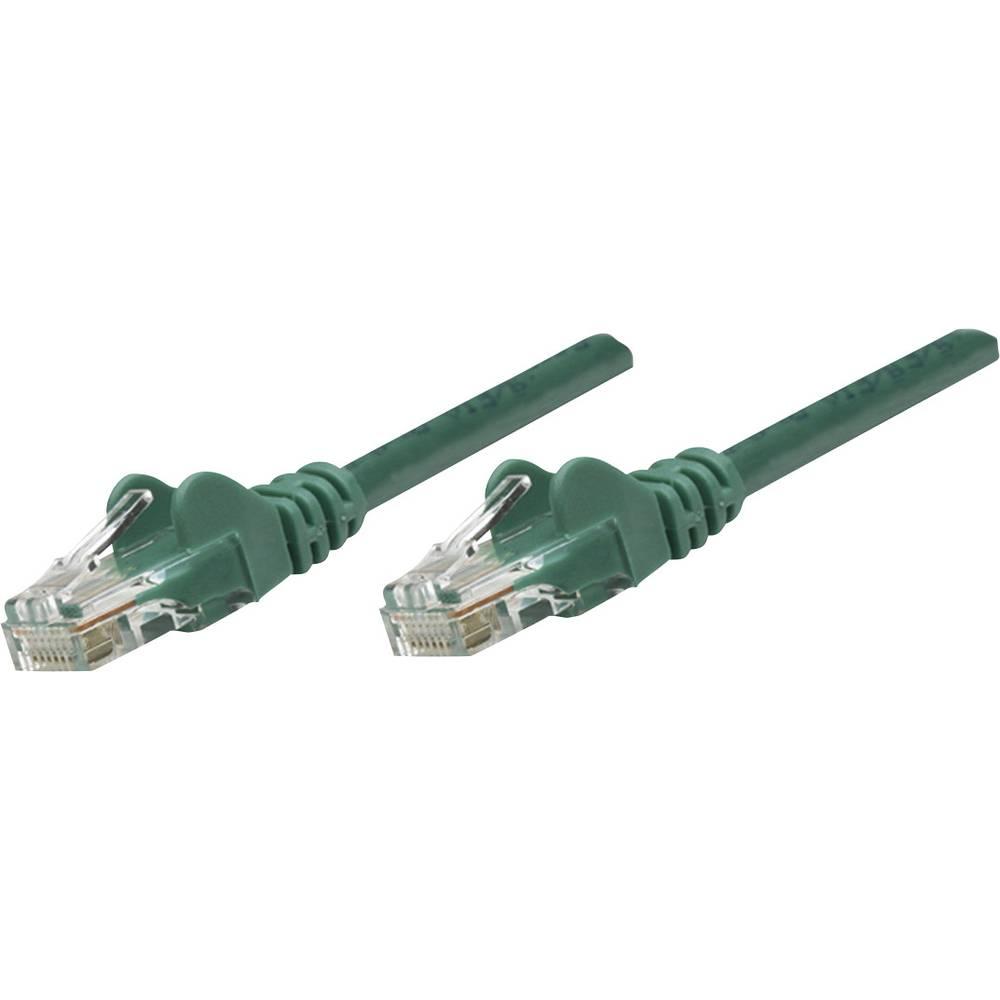 RJ45 omrežni priključni kabel CAT 6 S/FTP [1x RJ45-vtič - 1x RJ45-vtič] 7.50 m zelen pozlačeni zatiči Intell