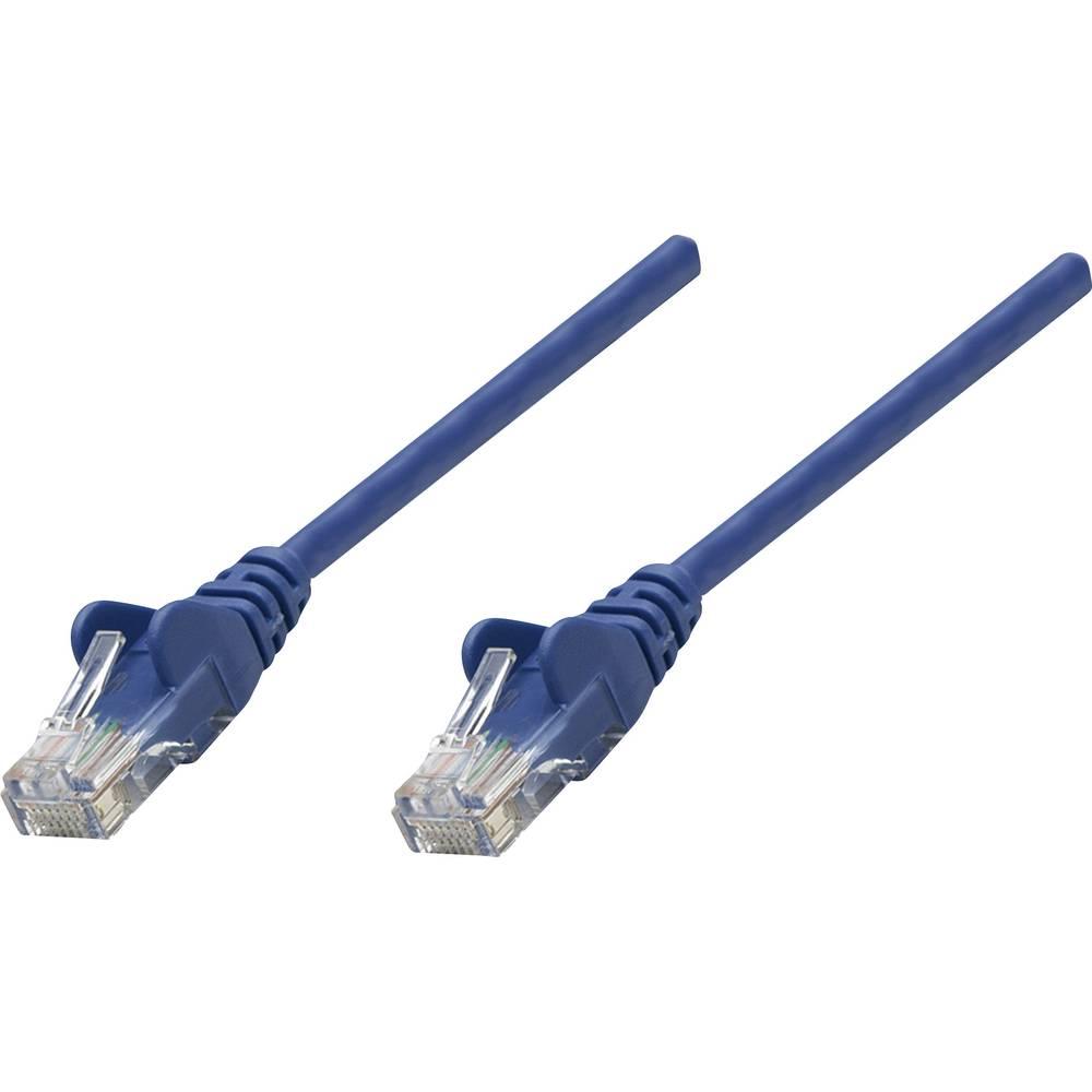RJ45 mrežni priključni kabel CAT 6 S/FTP [1x RJ45-utikač - 1x RJ45-utikač] 15 m plavi, pozlaćeni kontakti, Intellinet