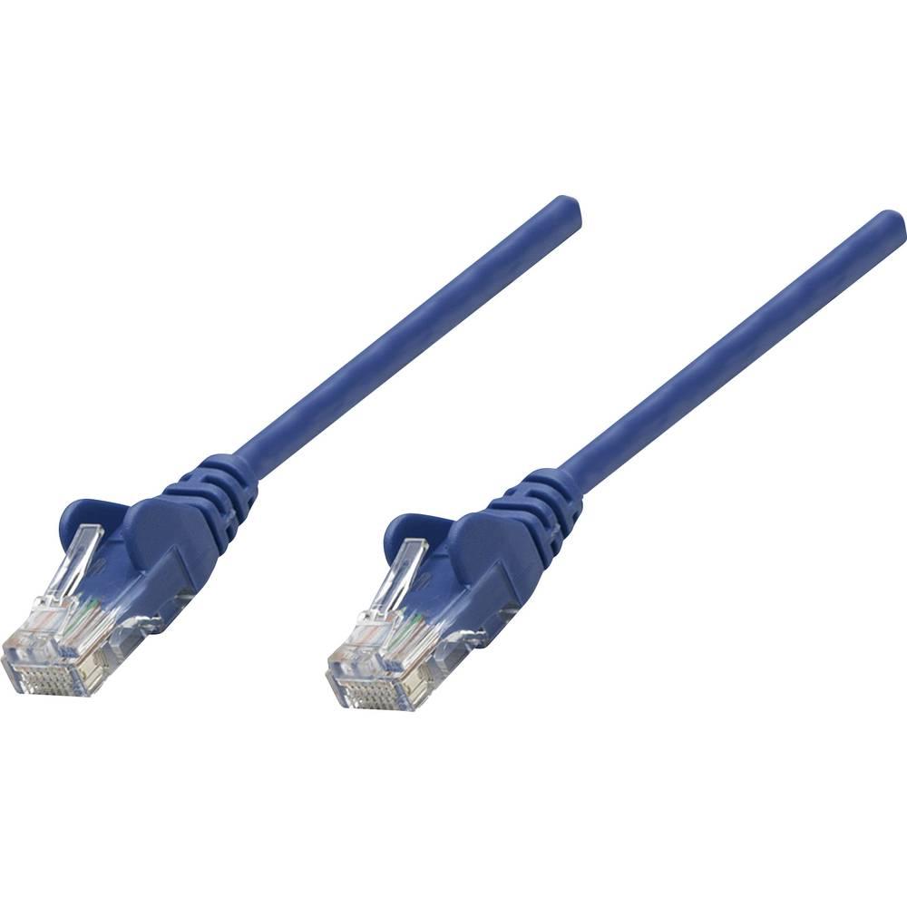 RJ45 omrežni priključni kabel CAT 5e U/UTP [1x RJ45-vtič - 1x RJ45-vtič] 5 m moder Intellinet