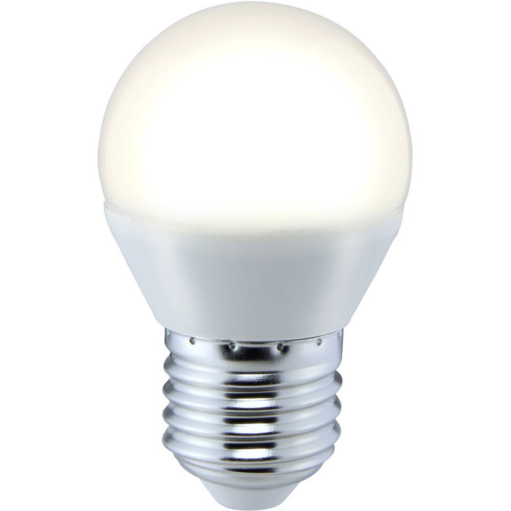 LED žarnica E27 oblika kaplje 5 W = 35 W topla bela (premer x D) 45 mm x 73 mm EEK: A+ Sygonix 1 kos