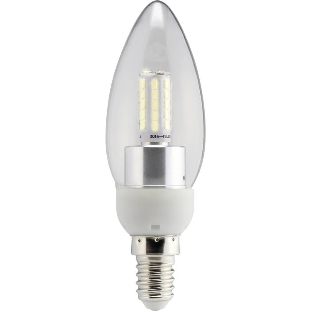 LED žarulja (jednobojna) 112 mm sygonix 230 V E14 4 W = 40 W toplo-bijela KEU: A+ oblik svijeće, sadržaj: 1 kom.