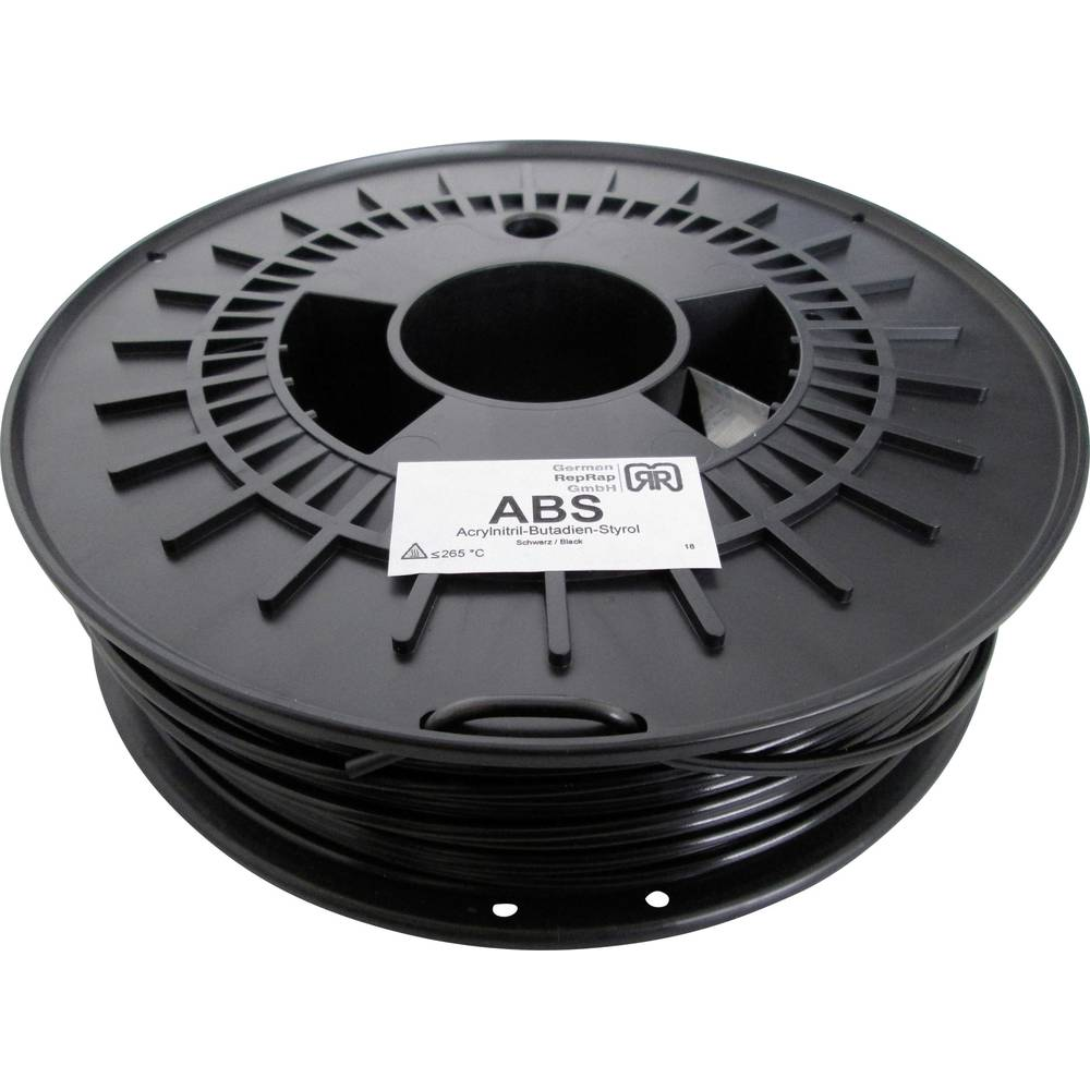 Filament German RepRap 100374 ABS 3 mm črne barve 750 g