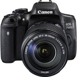 Systemkamera Digital Canon EOS 750D inkl. EF-S 18-135 mm IS STM 24.2 MPix Svart