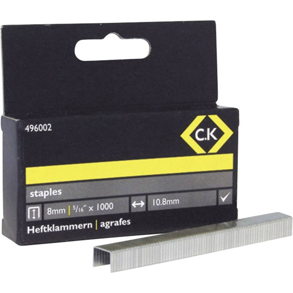 Spajalice C.K. 496002 tip spajalice 140 dimenzije (D x Š) 8 mm x 10.5 mm 1000 komada