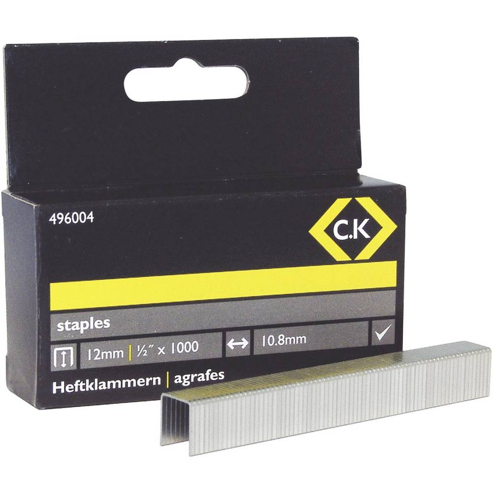 Spajalice C.K. 496004 tip spajalice 140 dimenzije (D x Š) 12 mm x 10.5 mm 1000 komada