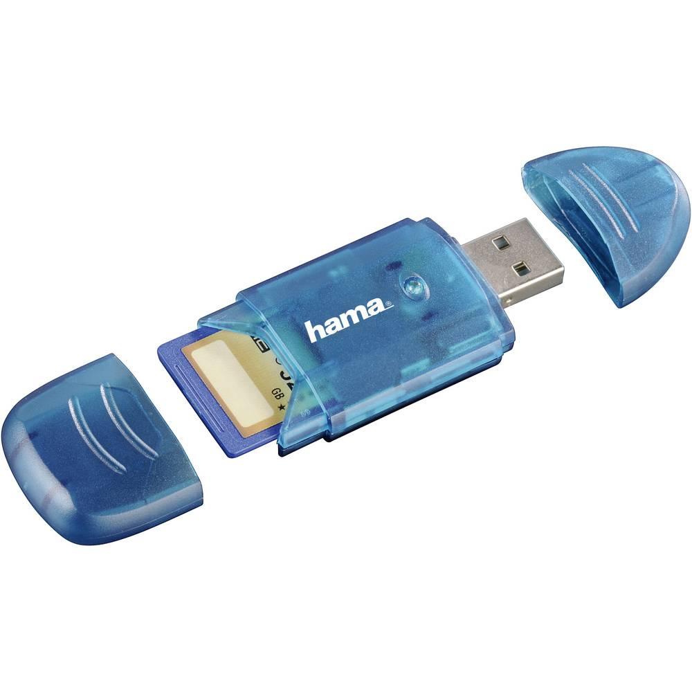 Zunanji bralnik spominskih kartic USB 2.0 Hama 114730 moder