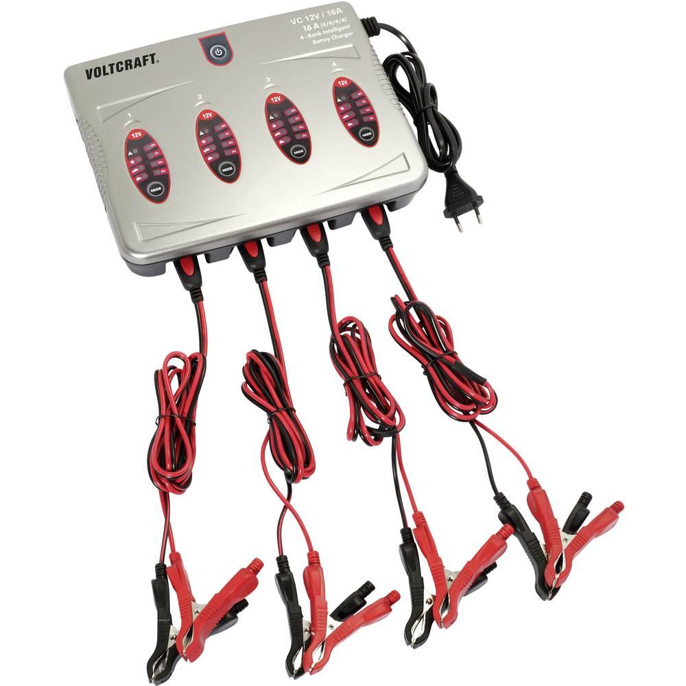 Automatski punjač VOLTCRAFT VC 12V / 16A 4x VC 12V / 16A 4x 12 V 0.8 A, 4 A