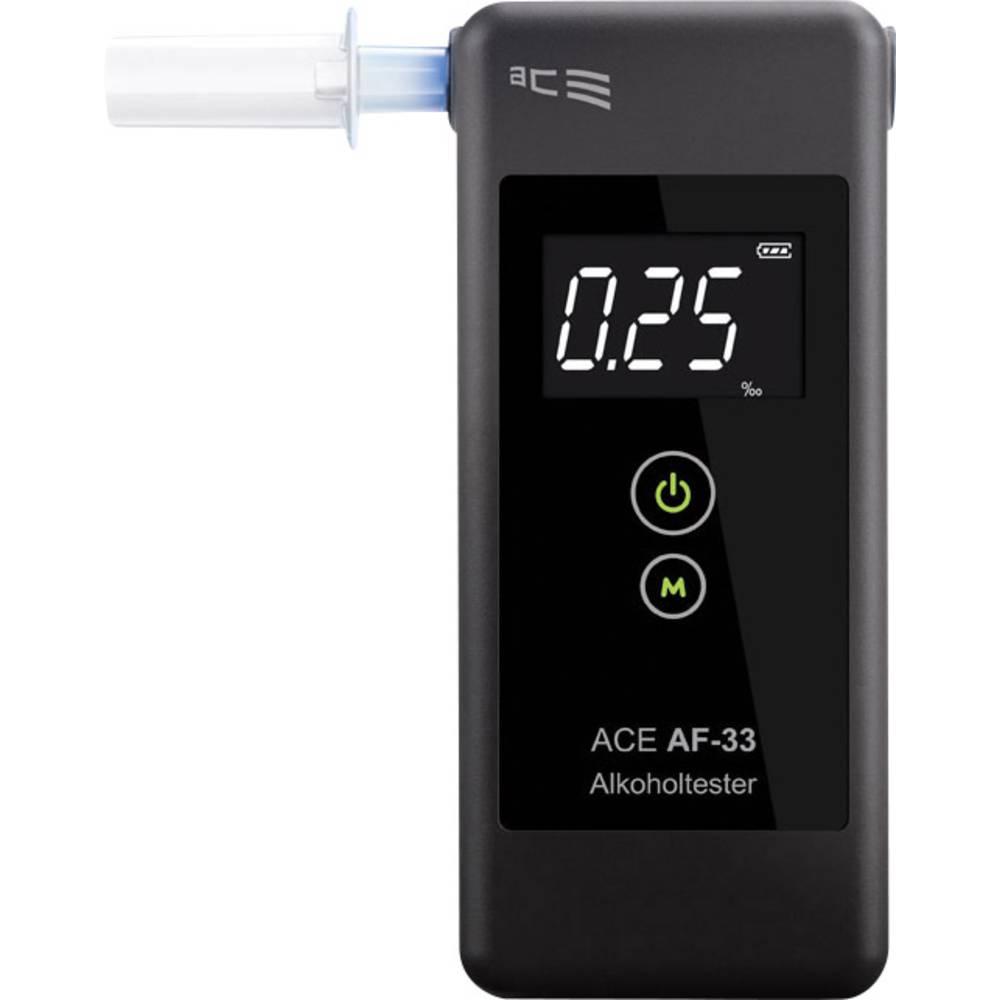Alkoholtester ACE Alkoholtester ACE AF-33 temno-siv Alkohol (max.)=5.00 ‰ vklj. Zaslon