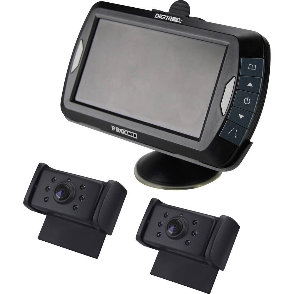 Brezžični video sistem za vzvratno vožnjo ProUser DRC4320 z dvema kamerama