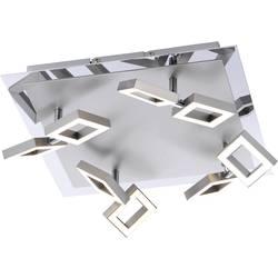 LED stropna svetilka 20 W topla bela Paul Neuhaus Twins 6700-55 jeklo