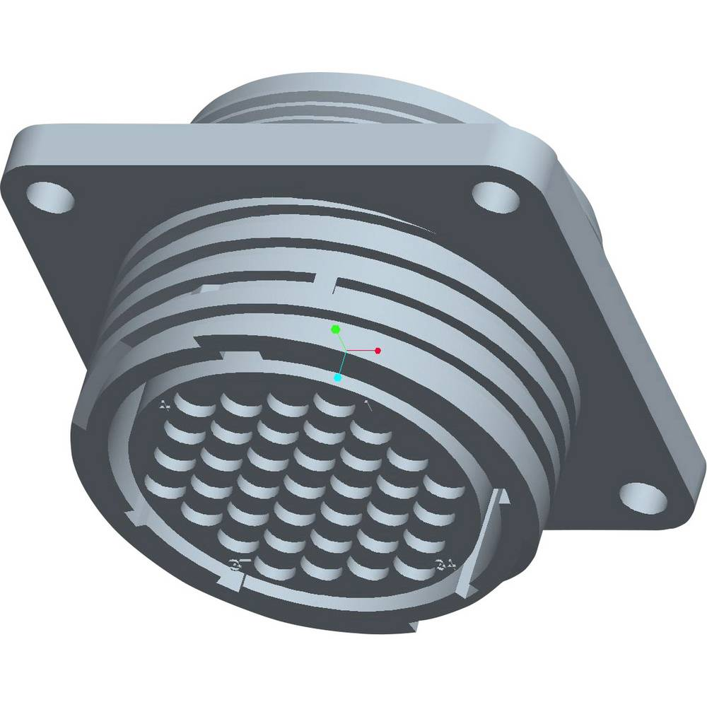 CPC ohišje vtičnice s pravokotno prirobnico, poli: 37 206306-1 TE Connectivity 1 kos