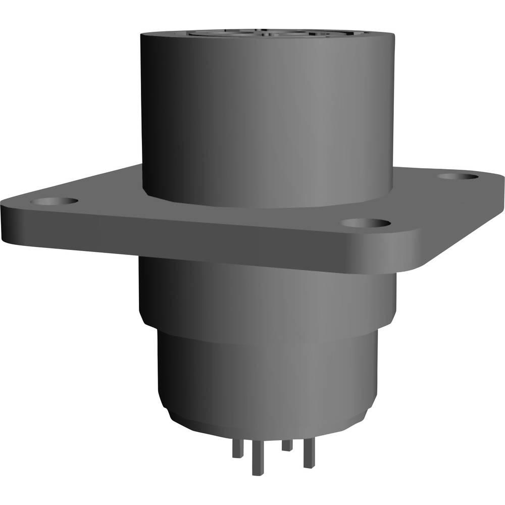 CPC ohišje vtičnice s pravokotno prirobnico, 208283-4 TE Connectivity 1 kos