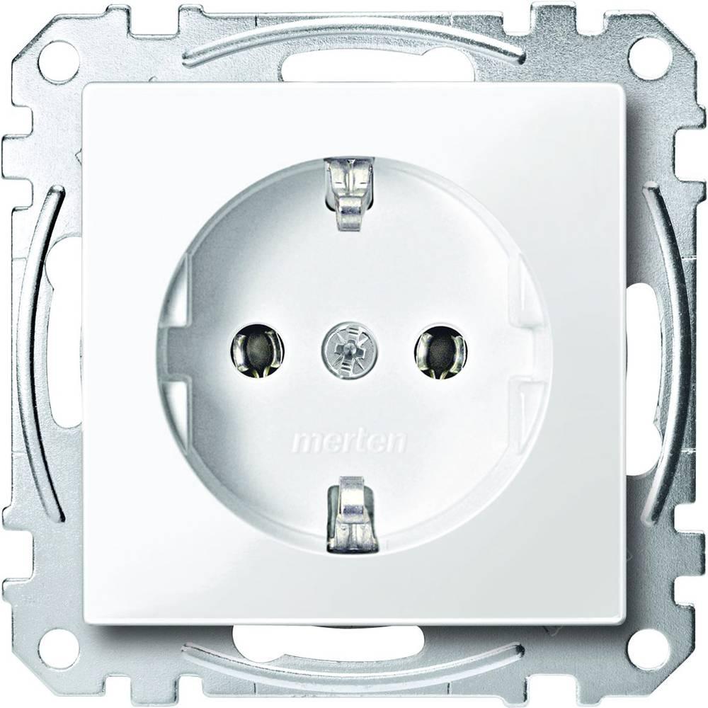 Merten Vložek Varnostni kontakt Sistem M Polarno bela / svetleča MEG2301-0319