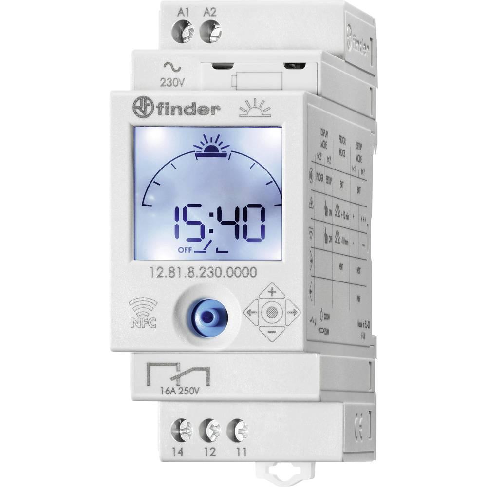 Astronomska 1.kanalna stikalna ura z NFC 12.81.8.230.0000 Finder 12.81.8.230.0000 1 x preklopni 16 A 250 V/AC