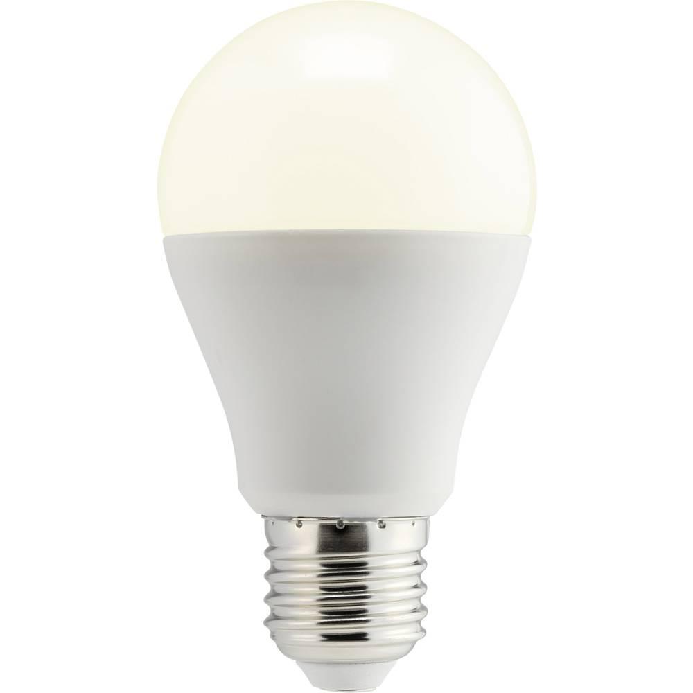 LED žarnica E27 klasična oblika 10 W = 60 W topla bela (premer x D) 60 mm x 108 mm EEK: A+ Sygonix dimmbar 1 kos