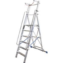 Aluminijasta samostoječa lestev, delovna višina (maks.): 3.4 m Krause Stabilo® Professional 127501 srebrne barve 20 kg