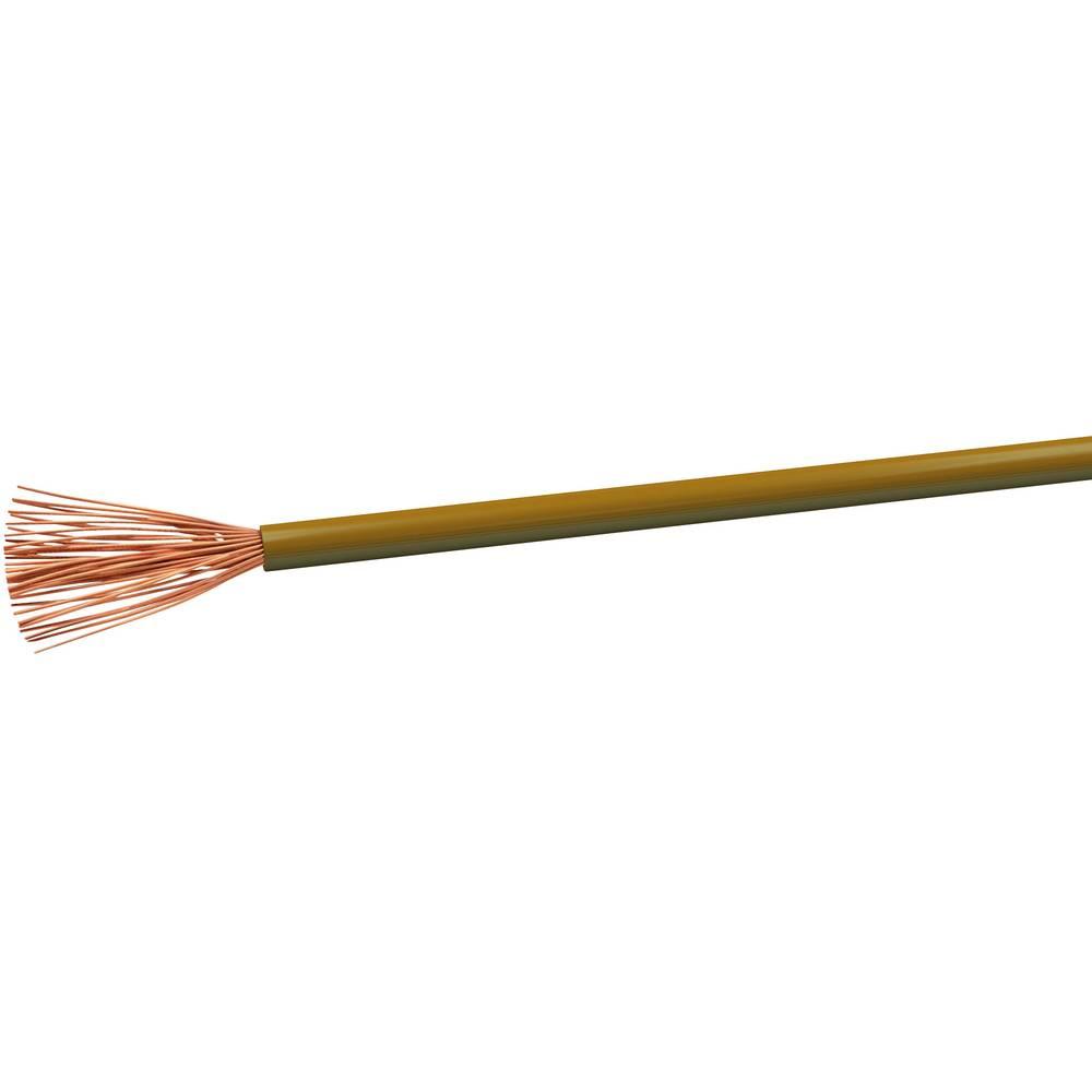 Slangledning H05V-K 1 x 0.75 mm² Brun VOKA Kabelwerk H05VK075BR 100 m