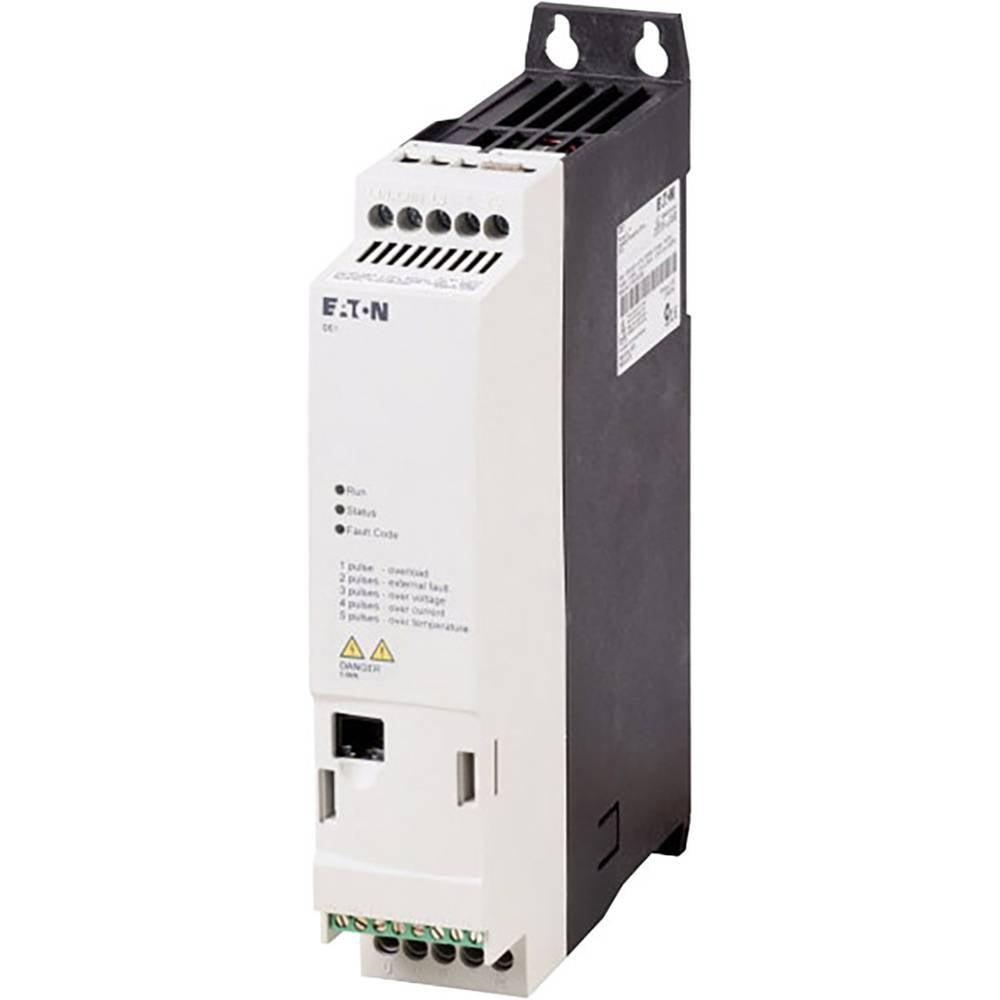 Pokretač broja okretaja DE1 Eaton PowerXL™ 0,37 kW DE1-122D3FN-N20N radni napon 230 V/AC izlazni napon 230 V/AC struja arm