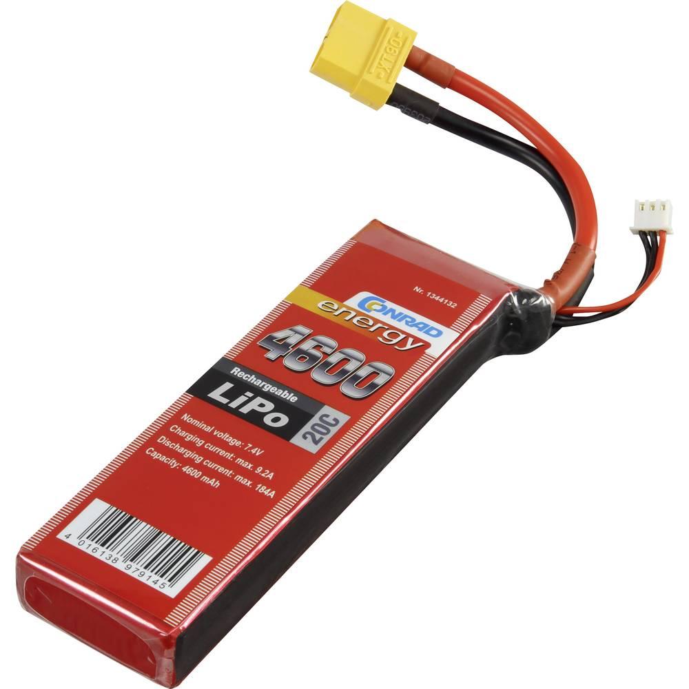 Baterijski paket za modele (LiPo) 7.4 V 4600 mAh broj ćelija: 2 20 C Conrad energy štap XT90
