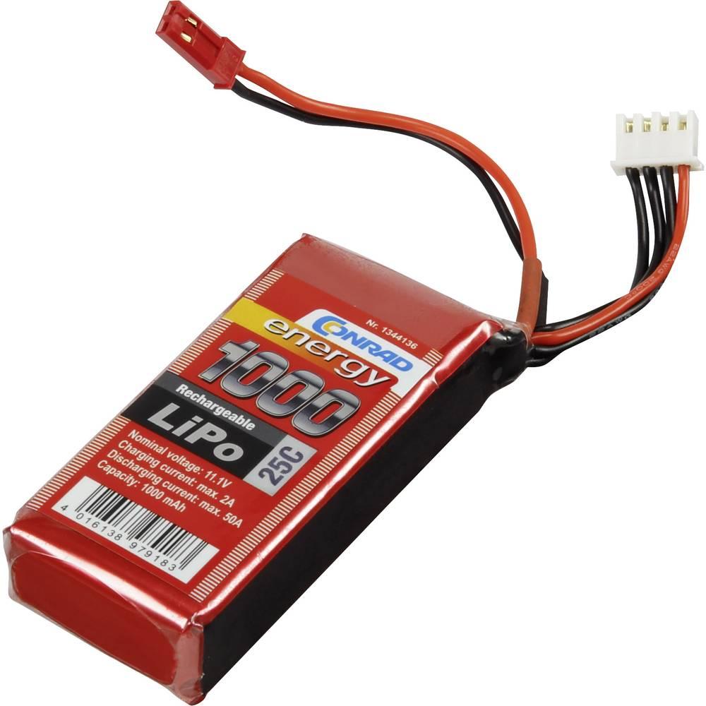 Baterijski paket za modele (LiPo) 11.1 V 1000 mAh broj ćelija: 3 25 C Conrad energy štap BEC