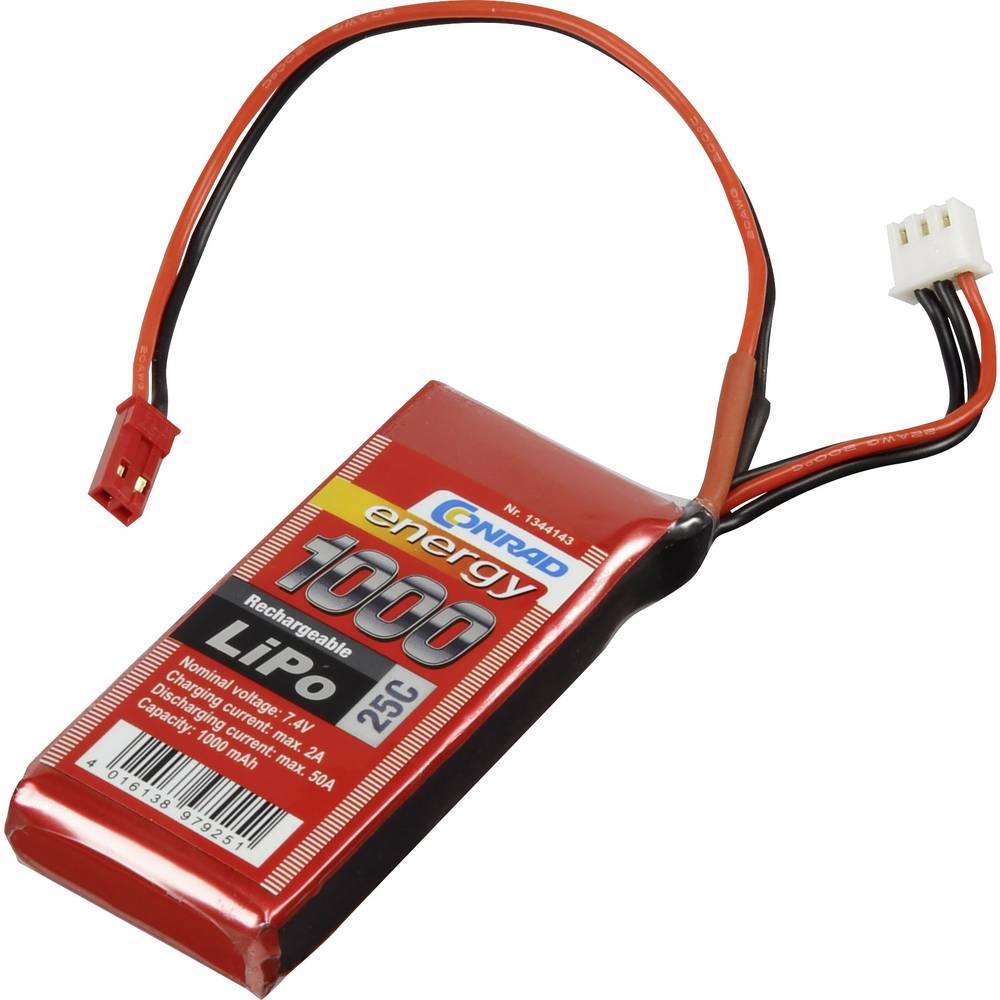 Modelarstvo - akumulatorski paket (LiPo) 7.4 V 1000 mAh 25 C Conrad energy Stick BEC