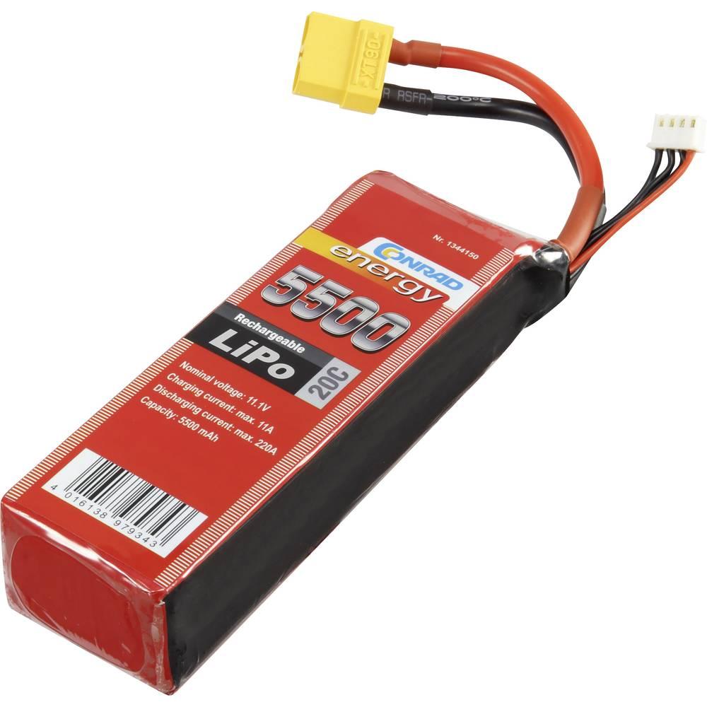 Modelarstvo - akumulatorski paket (LiPo) 11.1 V 5500 mAh 20 C Conrad energy Stick XT90