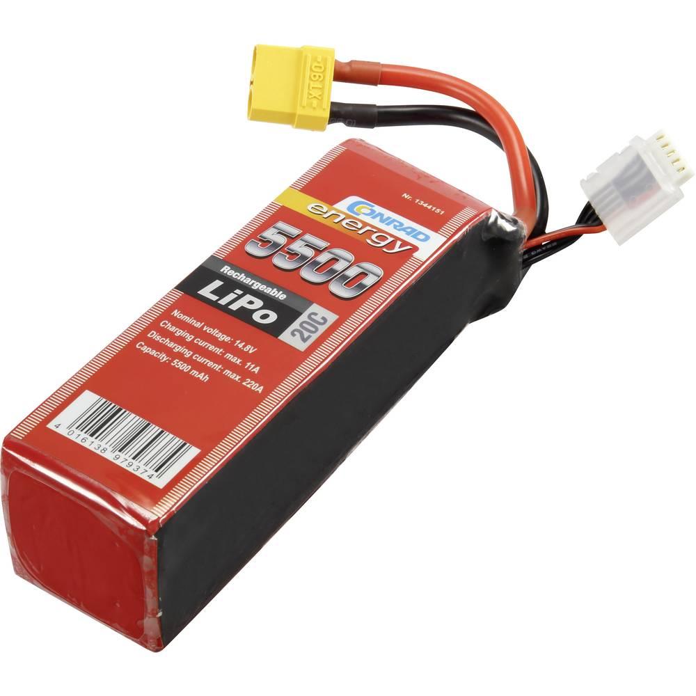 Modelarstvo - akumulatorski paket (LiPo) 14.8 V 5500 mAh 20 C Conrad energy Stick XT90