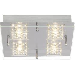 LED stropna svetilka 20 W topla bela Brilliant Martino G94267/15 krom