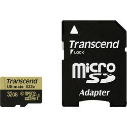microSDHC-kartica 32 GB Transcend Ultimate (633x) Class 10, UHS-I, UHS-Class 3 vklj. SD-adapter