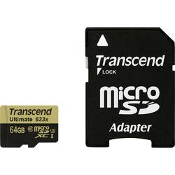microSDXC-kartica 64 GB Transcend Ultimate (633x) Class 10, UHS-I, UHS-Class 3 vklj. SD-adapter