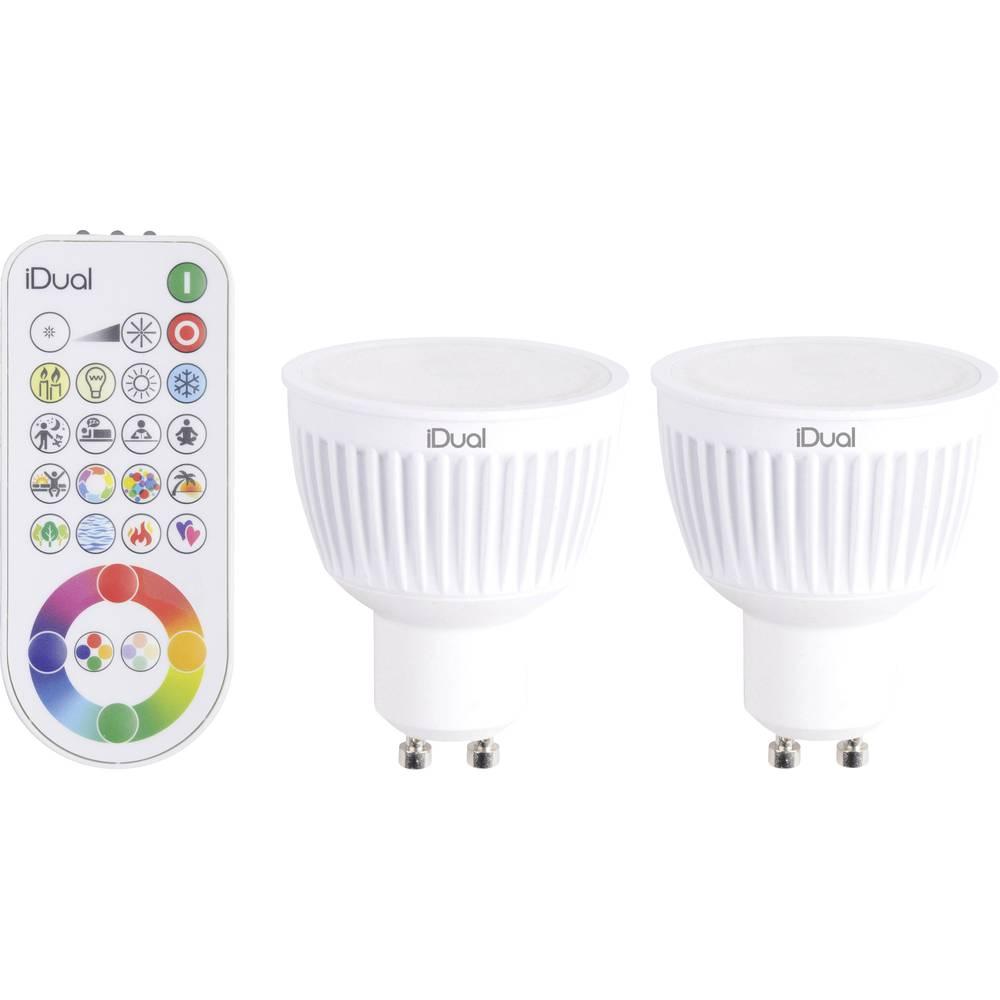 LED (RGB) 59 mm JEDI Lighting 230 V GU10 7 W = 35 W RGBW EEK: A reflektor zatemnilna, spreminja barve vsebuje 2 kos