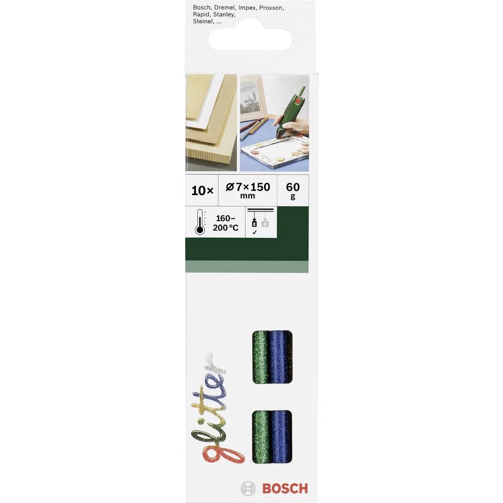 Palčke za vroče lepljenje Bosch, Ø 7 mm, 150 mm, različne barve, sortirano (sijoče), 2609256D31, 10 kosov, 60 g