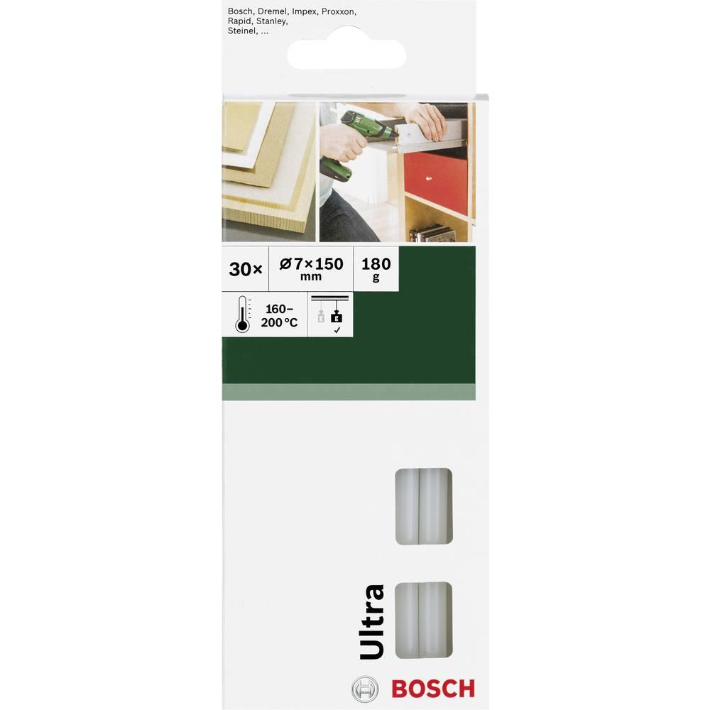 Palčke za vroče lepljenje Bosch, Ultra, Ø 7 mm, 150 mm, prosojne (mlečne), 2609256D29, 30 kosov, 180 g