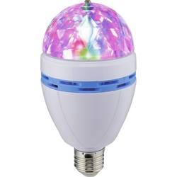 Renkforce E27 Partylamp žarnica, bela, večbarvna Disko krogla s svetlobnimi učinki X4-Live Color S Mini