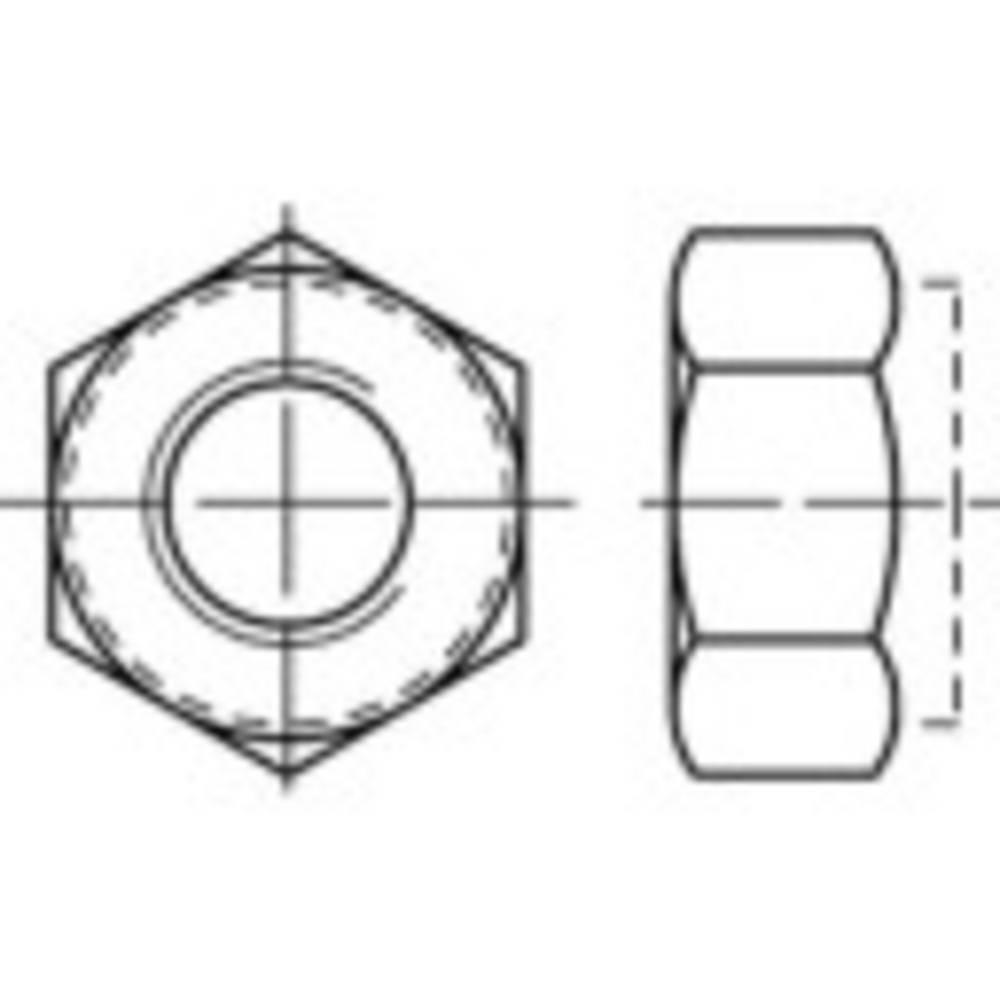 Låsmuttrar TOOLCRAFT M10 DIN 982 Rostfritt stål A2 500 st