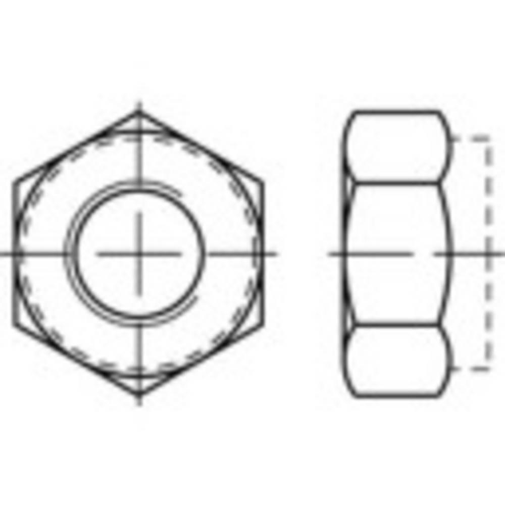 Låsmuttrar M22 DIN 985 Stål galvaniskt förzinkad 25 st TOOLCRAFT 135351