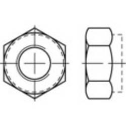 Låsemøtrikker TOOLCRAFT 135401 M4 DIN 985 Stål Galvaniseret, Gul kromatiseret 100 stk