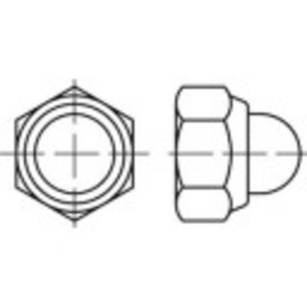 Sexkant-kupolmuttrar M6 DIN 986 Stål galvaniskt förzinkad 100 st TOOLCRAFT 135415