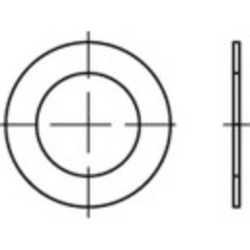 Distansskiva Inre diameter: 15 mm DIN 988 Stål 100 st TOOLCRAFT 135660
