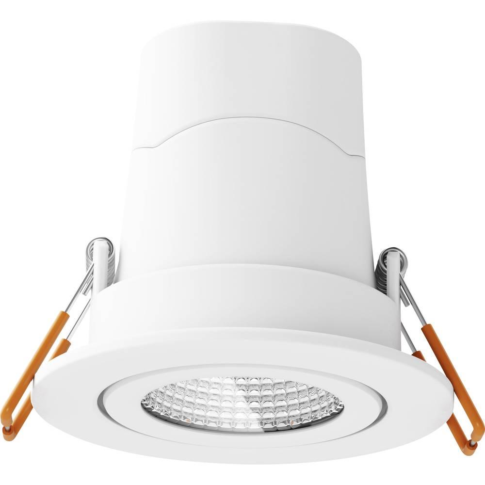 LED-inbyggnadsbelysning OSRAM PUNCTOLED 7.5 W Varmvit Metall, Plast Vit