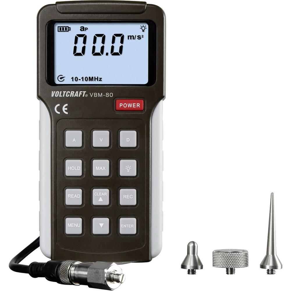 VOLTCRAFT VBM-80 merilnik pospeška, merilnik vibracij ±5 % 0.01 - 19.99 c m/s