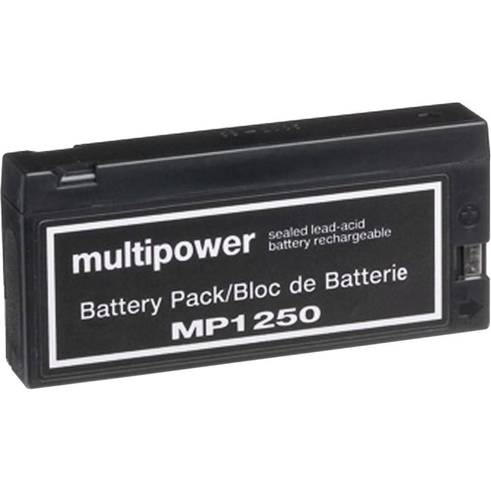 Svinčev akumulator 12 V 2 Ah multipower MP1250 B20113MP svinčevo-koprenast (AGM) 143 x 64 x 23 mm vpenjalni pol, brez vzdrževanj