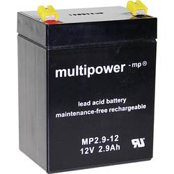 Olovni akumulator 12 V 2.9 Ah multipower MP2,9-12 A97275 olovo (AGM) (Š x V x DB) 79 x 107 x 56 mm plosnati utikač 4.8 mm bez od