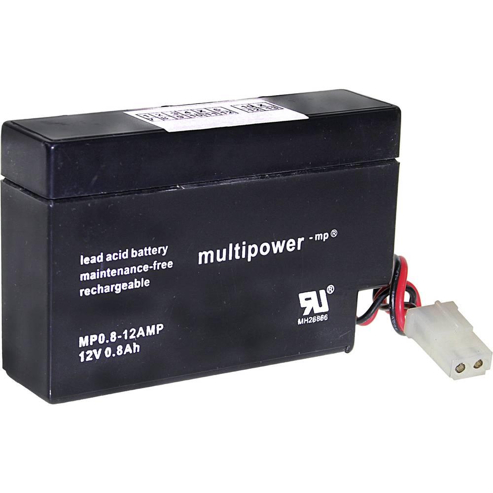 Svinčev akumulator 12 V 0.8 Ah multipower MP0,8-12AMP A9709 svinčevo-koprenast (AGM) 96 x 62 x 25 mm AMP-vtičnica, brez vzdrževa