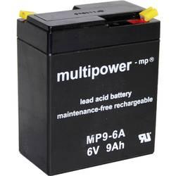 Olovni akumulator 9 Ah multipower MP9-6A A9680 olovo (AGM) (Š x V x DB) 97 x 118 x 56 mm plosnati utikač 4.8 mm bez održavanja,